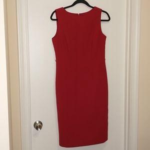 Talbots red sleeveless wool sheath dress
